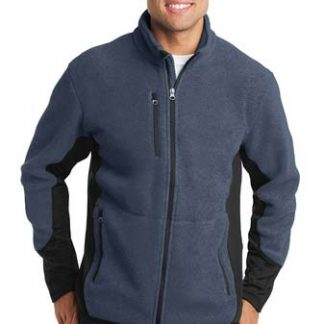 "Jackets - Mens' ""4 Box"" Logo Port Authority Fleece Jacket"
